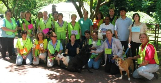 Group photo of MDA staff training for emergency pet sheltering