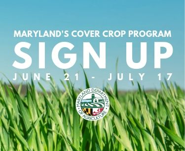 Maryland's 2019-2020 Cover Crop Sign Up (June 21-July 17)